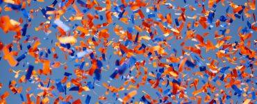 orange & blue confetti
