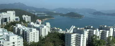 white buildings on island overlooking water