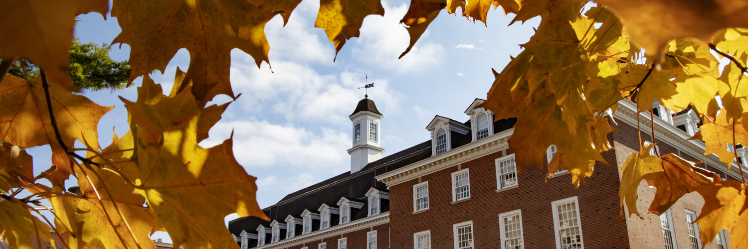 a crisp, clear fall day on the Urbana-Champaign campus