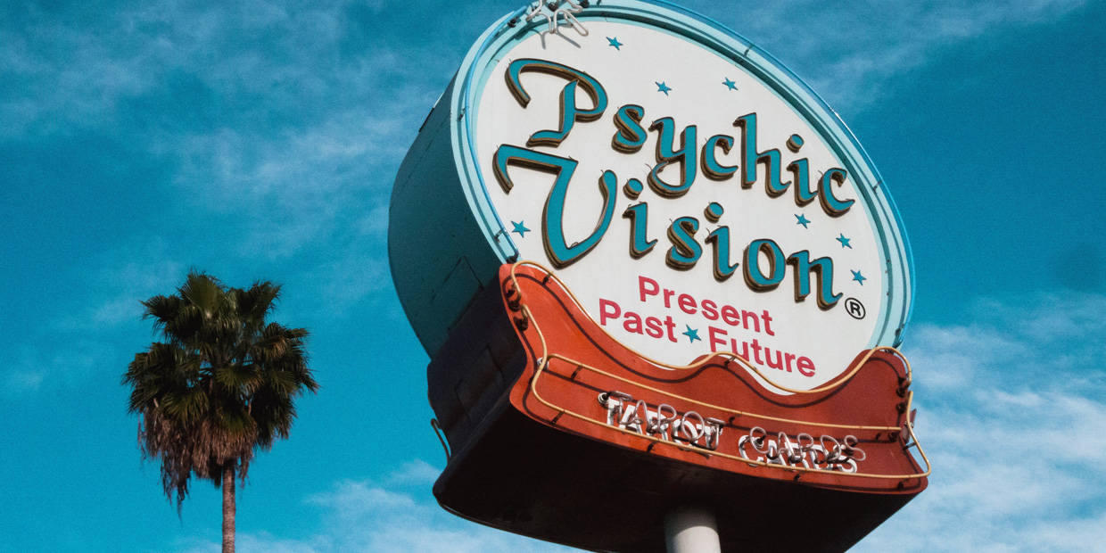 large Psychic Vision sign