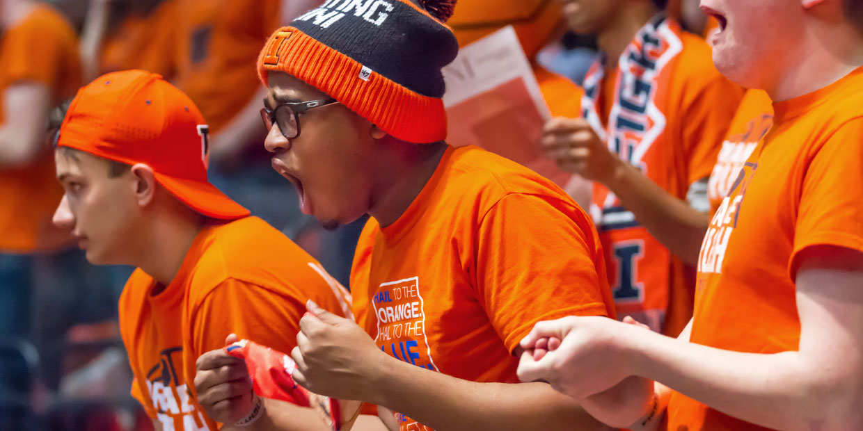 Orange Krush members cheering