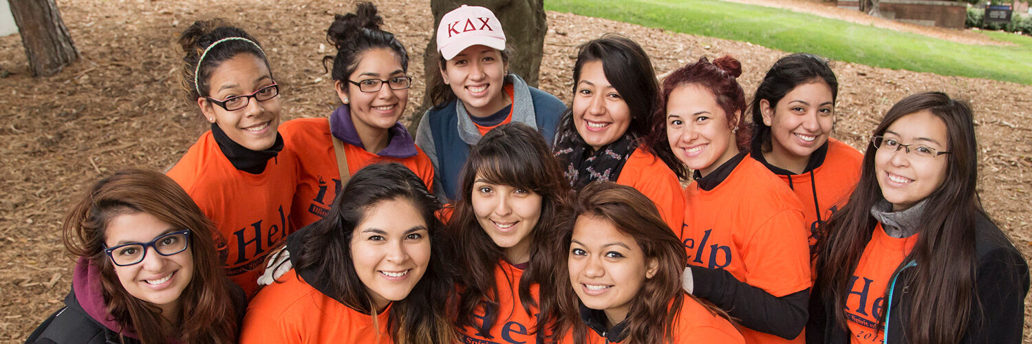 sorority sisters volunteer and participate in iHelp